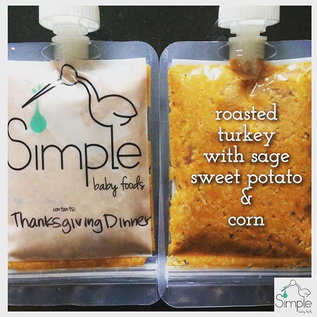 BABY'S 1st THANKSGIVING DINNER 🦃🌽 - I'm a firm believer that holidays should create delicious memories, and it's never to early to start! Video & recipe are on our blog (link in bio) and on our YouTube channel! Happy Thanksgiving friends! . . . . #happythanksgiving #homemadebabyfood #babyfood #simplebabyfood #thanksgivingdinner #baby #mom #eeeeeats