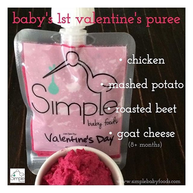 Happy Valentine's Day! The recipe for this yummy & colorful puree is on our blog. Link in bio 👆🏼❤️🏹🌸. . . . #baby #babyfood #homemadebabyfood #happyvalentinesday #valentinesday #daddy #mom #diy #recipe