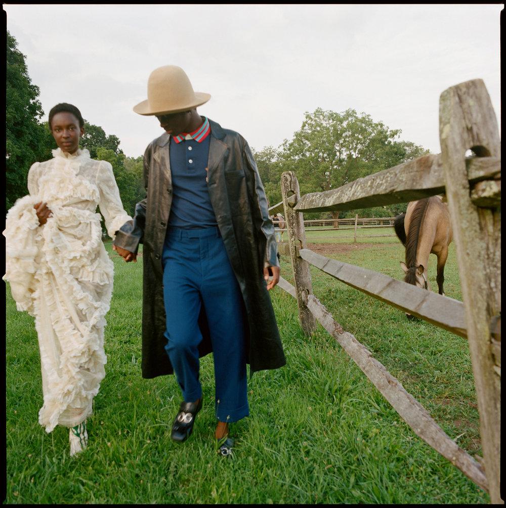 Alton Mason and Nicole Atieno for Wonderland Magazine. Styled by Rachael Wang.
