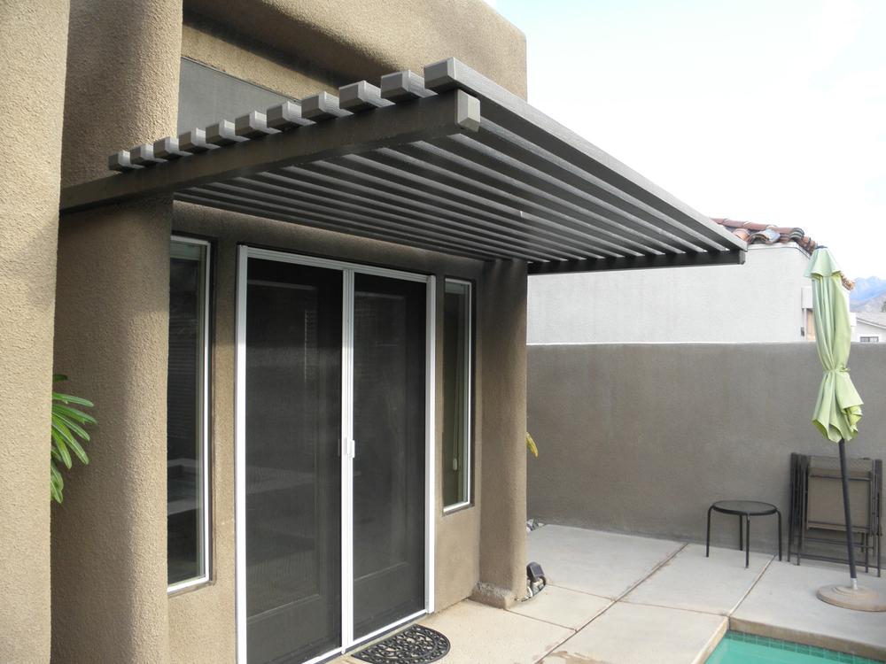 Aluminum Wood Awning, Palm Springs CA
