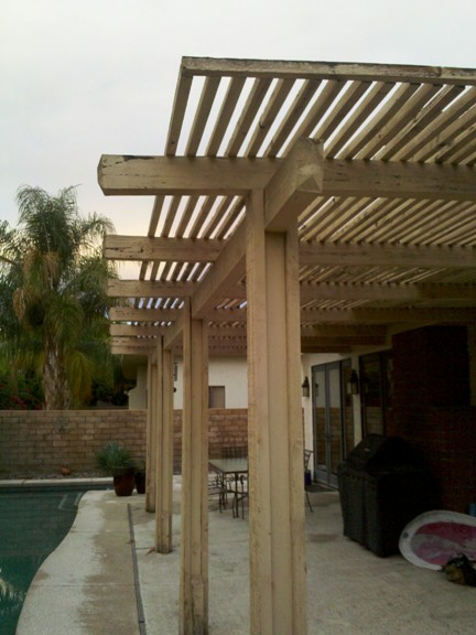 New Living Space Created With Combination Roof Patio Cover