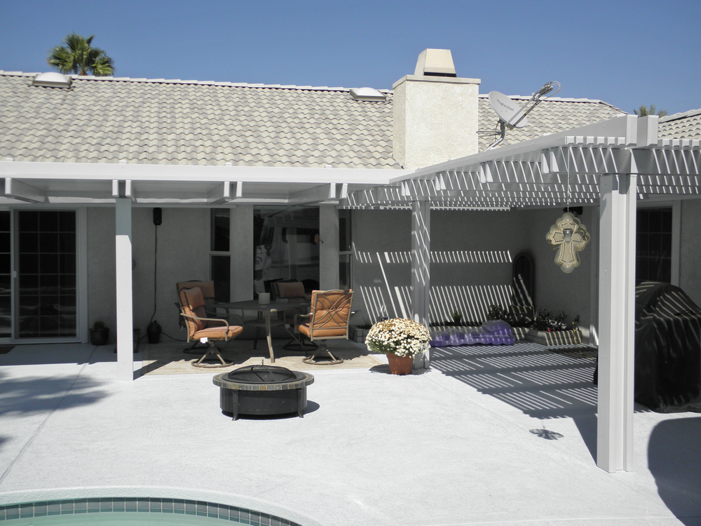 Lattice Patio Cover, Cathedral City, CA