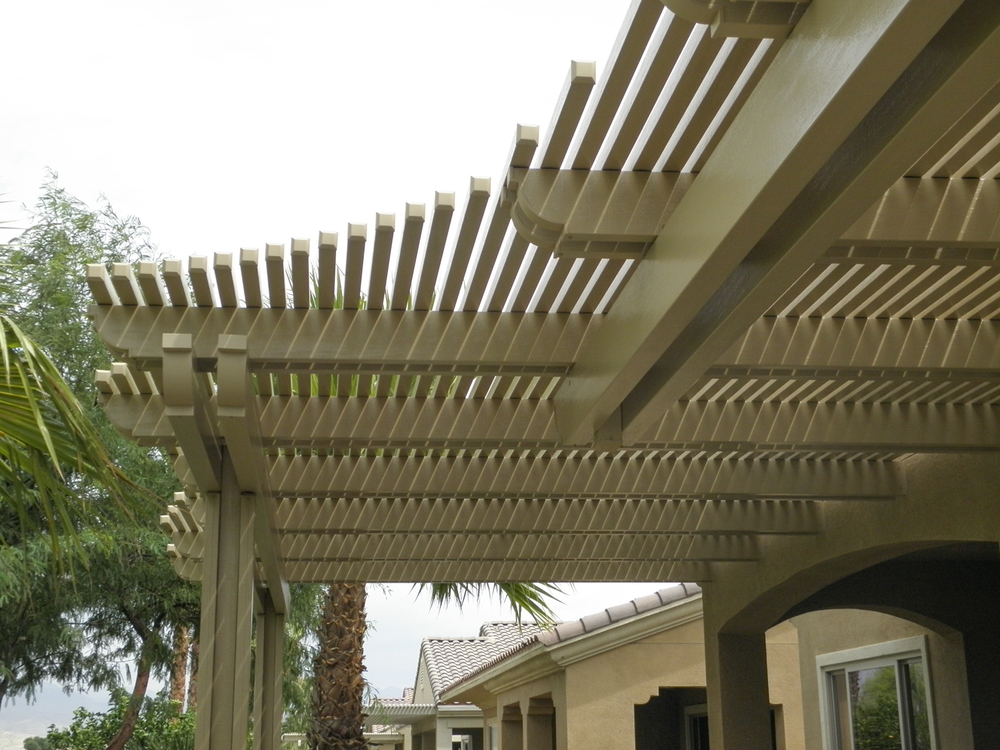 Custom Lattice Patio Cover, 92260