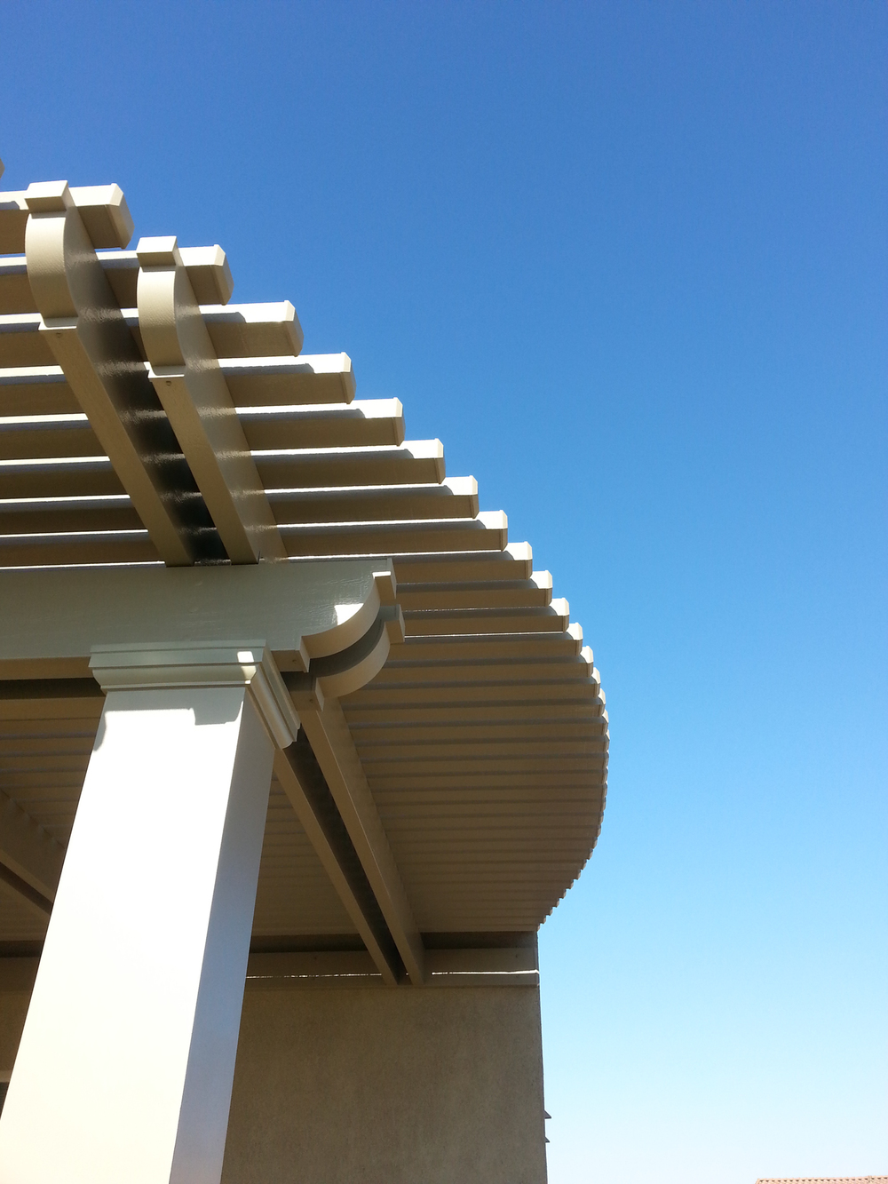 Curved Lattice Patio Cover, Palm Desert, CA