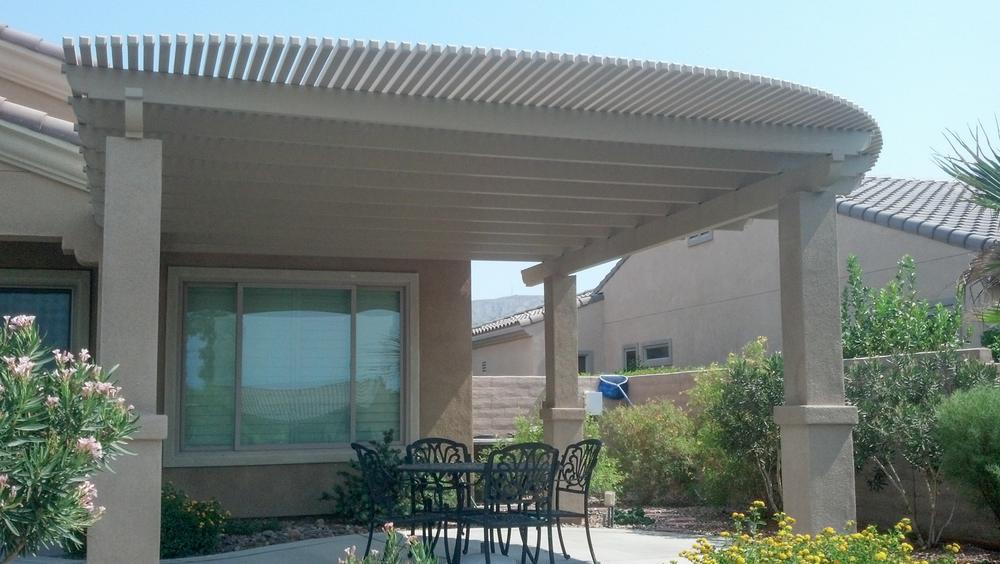 Lattice patio covers indio palm desert la quinta 92203 for Stucco patio cover designs