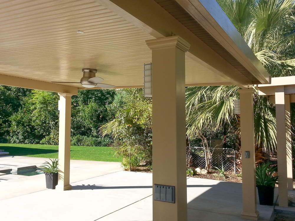 Solid Roof Patio Cover, 92210