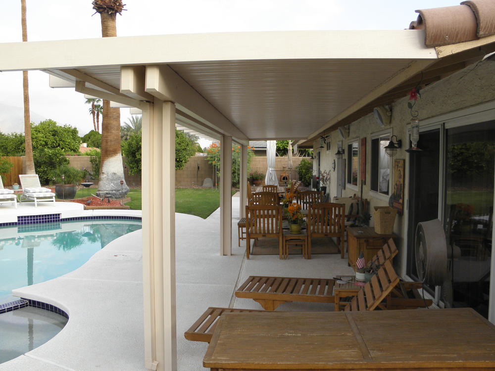 Full Solid Roof Patio Cover, Rancho Mirage, CA