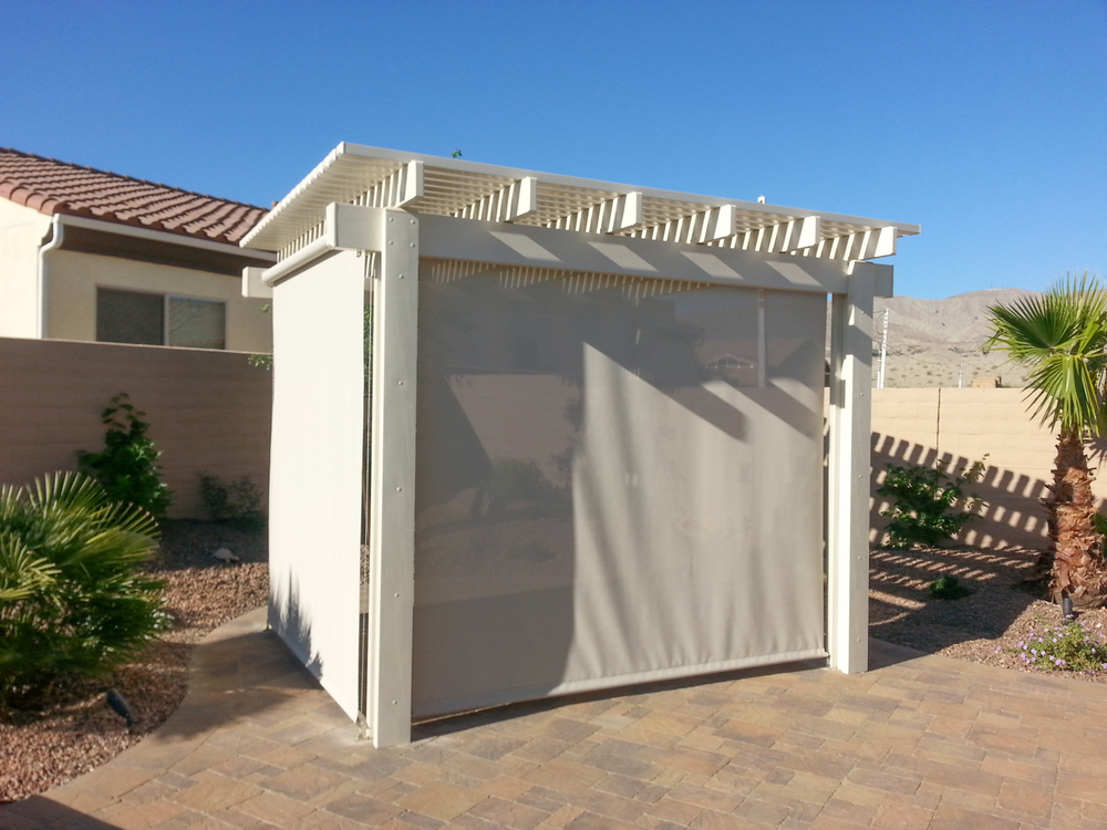 Free Standing Gazebo with Retractable Dropshades, 92260