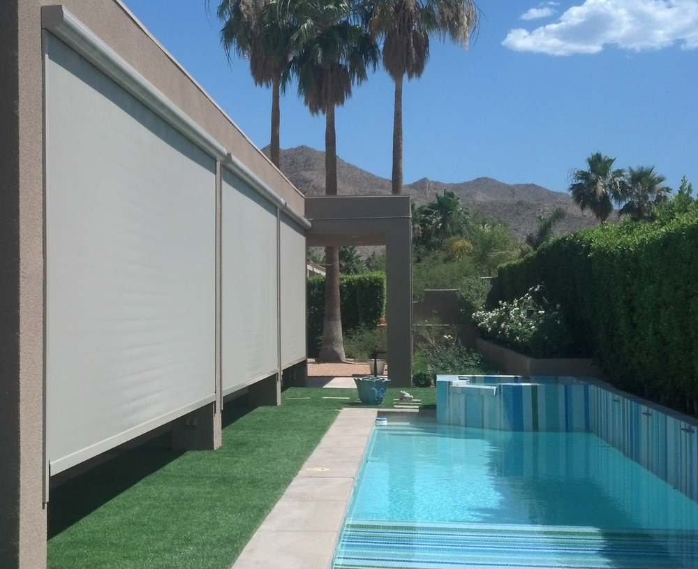 Multiple Patio Dropshades, Palm Desert