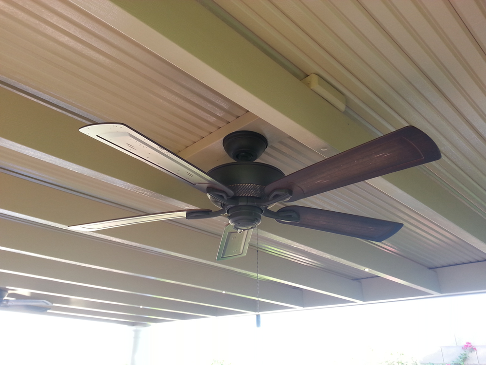 Outdoor Fan on Solid Patio Cover, Indio 92203