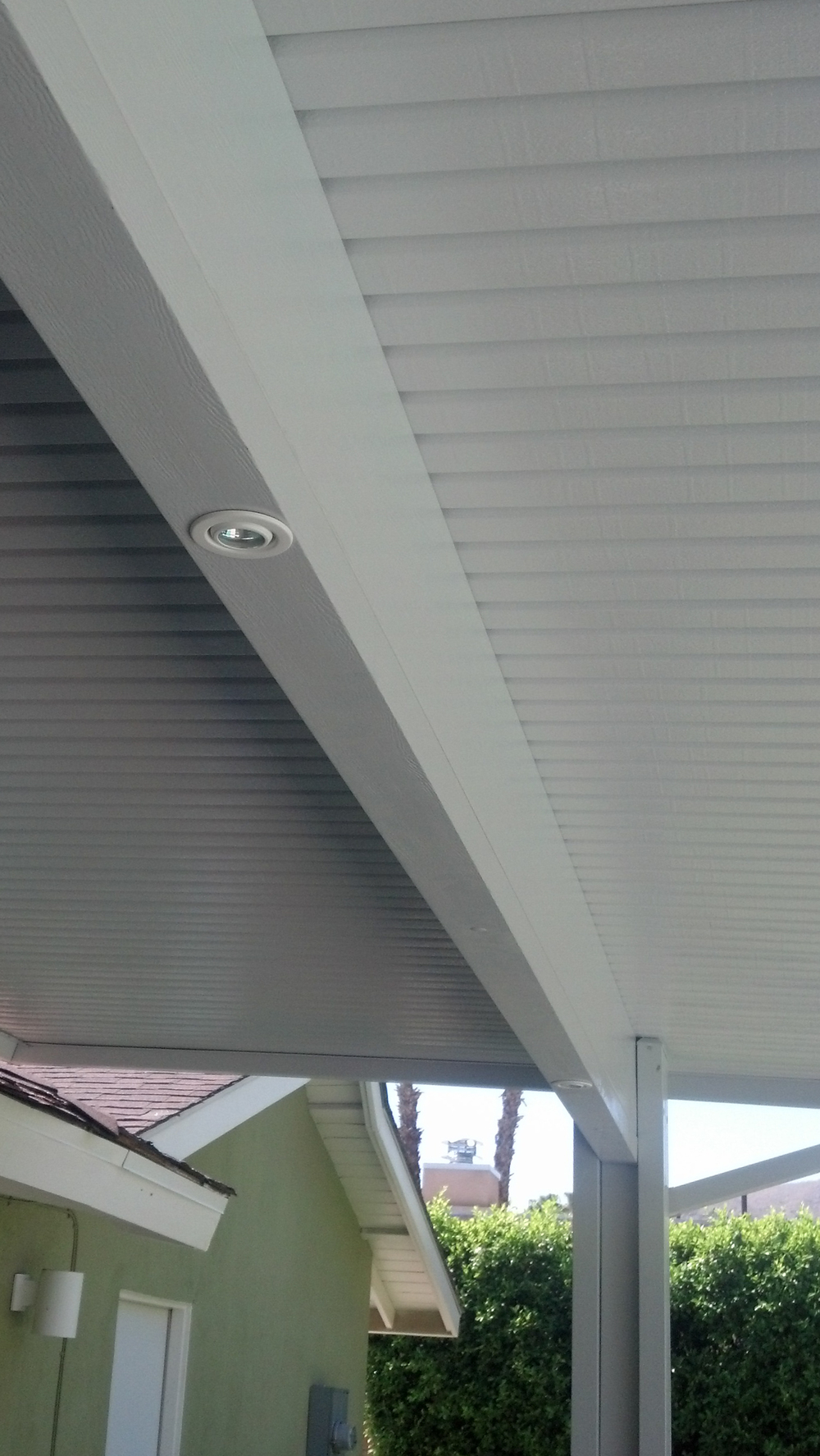 Recessed Can Lights on Patio Cover, La Quinta, CA, 92253