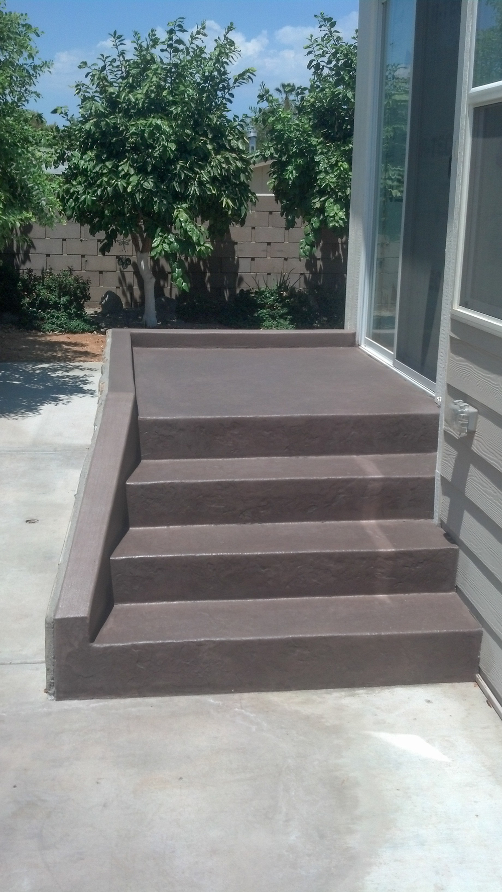 Concrete Steps to Back Door, Indio, CA, 92202