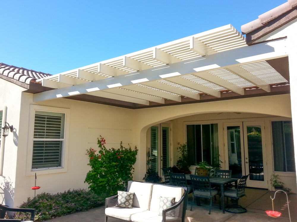 Awnings Photos — Valley Patios Custom Patio Covers
