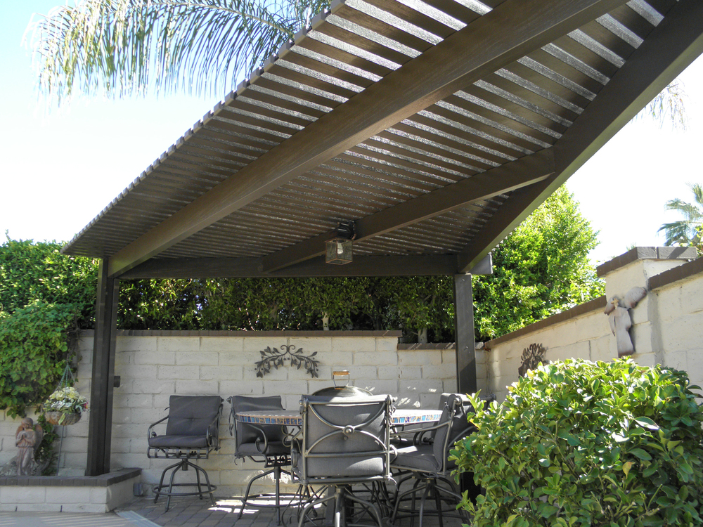 Gazebos shade structures valley patios palm desert for Home shade structures