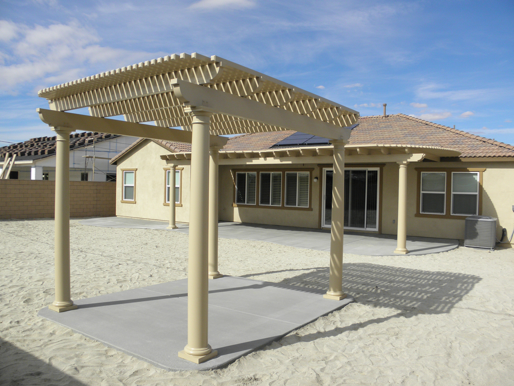 Gazebo with Tuscan Columns Painted to Match