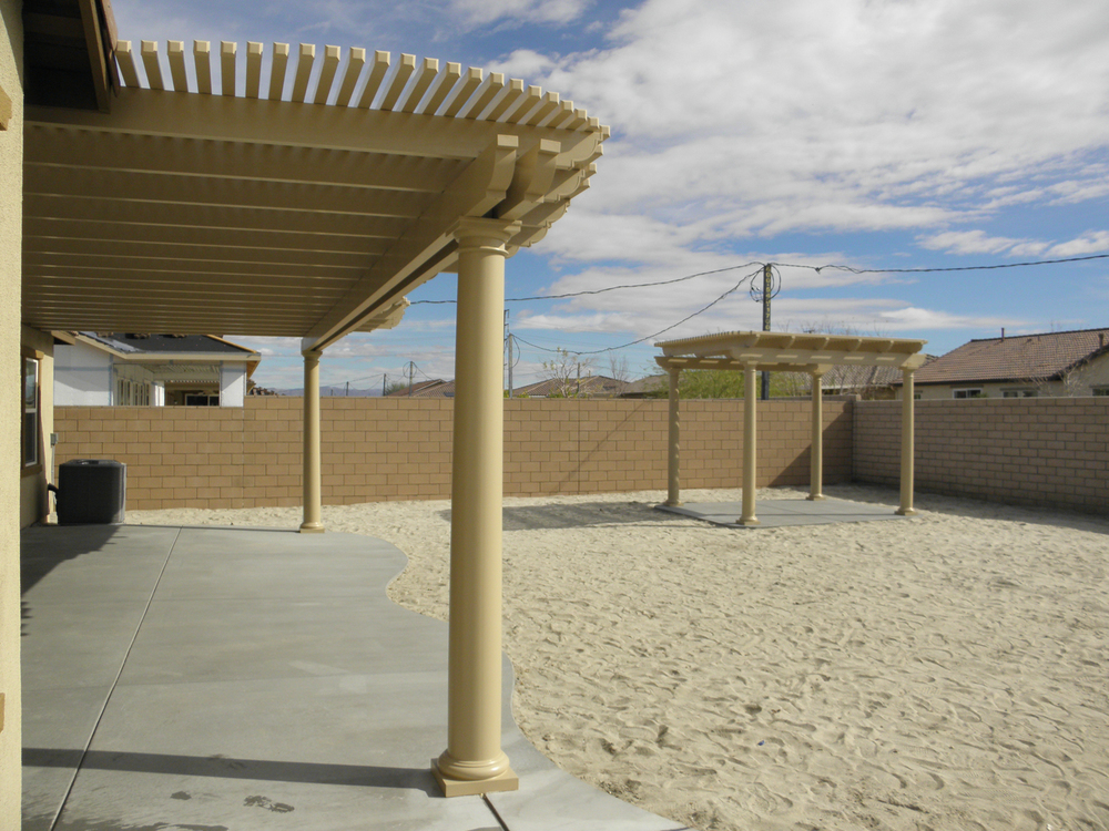 Lattice Patio Cover and Gazebo with Fiberglass Poles, Indio, CA, 92201