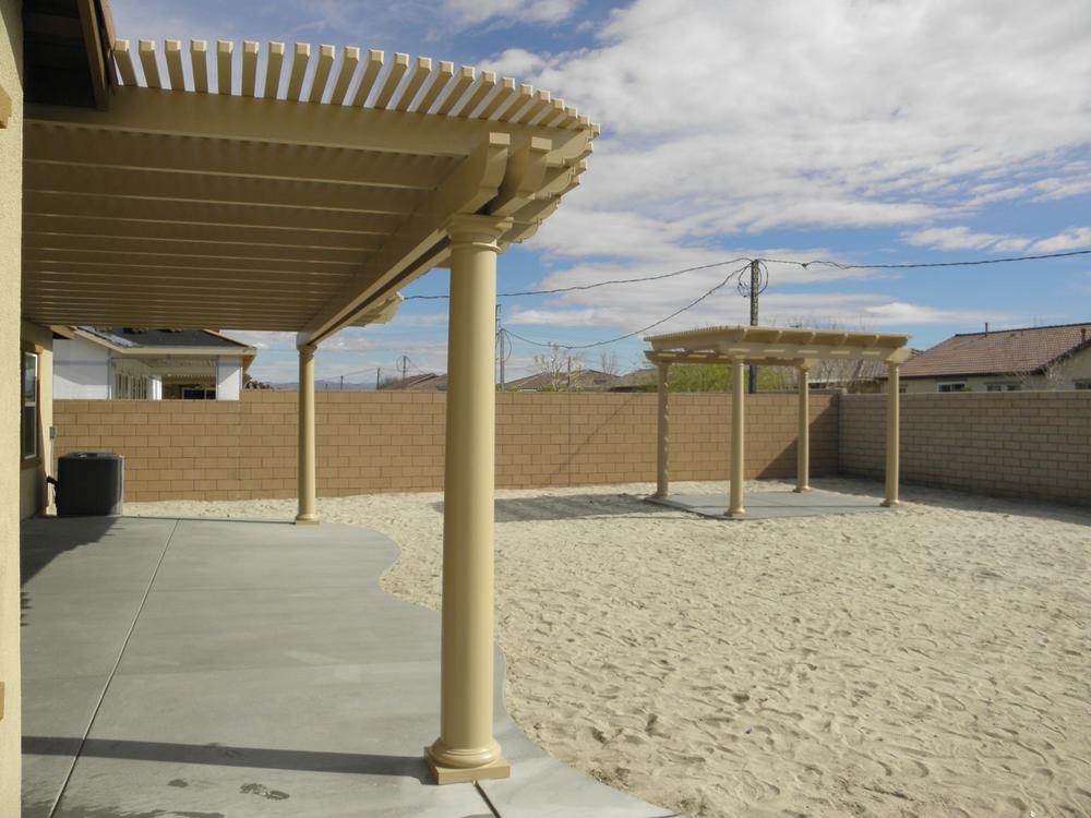 Lattice Patio Cover and Gazebo with Fiberglass Poles, Indio, CA, 92201