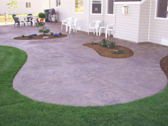 Curved Concrete Patio, Palm Desert, CA, 92260