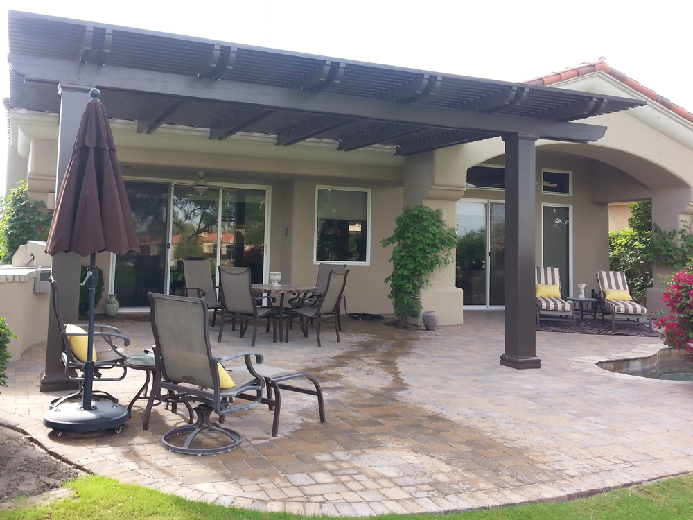Weatherwood and aluminum wood patio cover products by for Aluminum wood patio covers