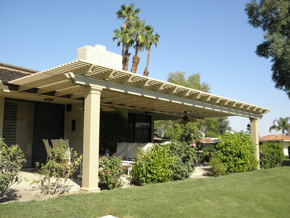 Lattice Patio Cover with Fiberglass Poles, Palm Springs, CA, 92262