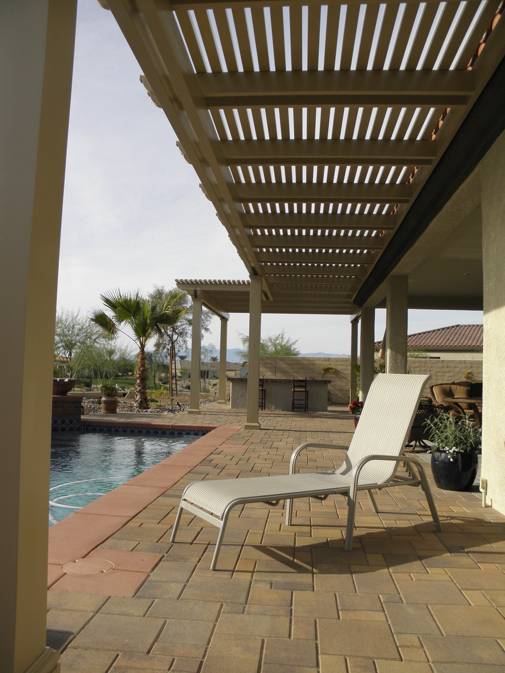 Custom Lattice Patio Cover and BBQ Patio Cover, La Quinta, CA