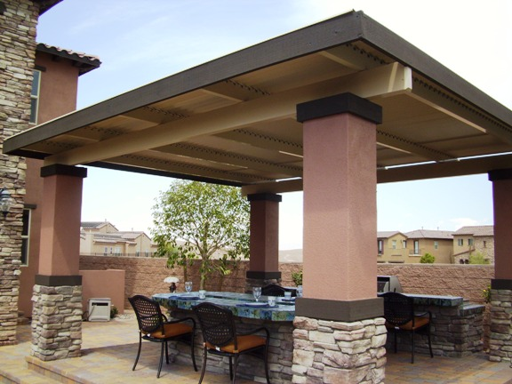 Louvered roof patio covers valley patios custom patio covers for Build a freestanding patio cover