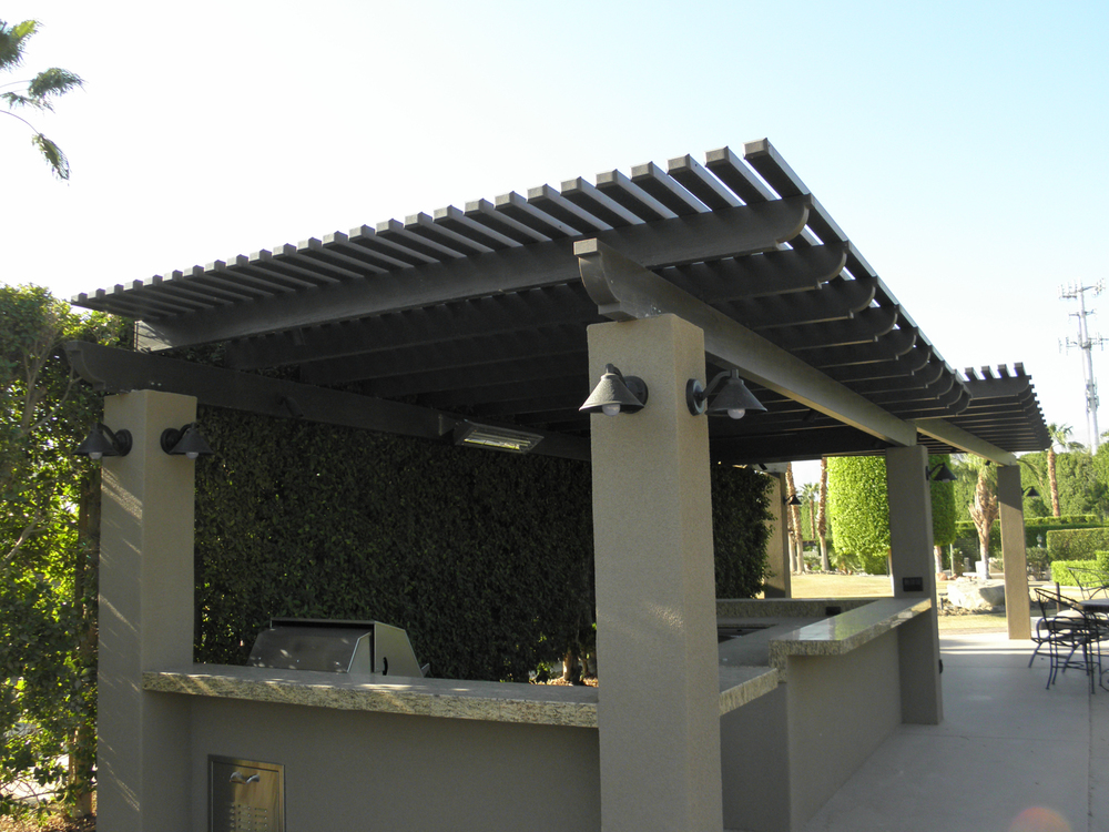 BBQ and Lattice Patio Cover, Indian Wells, CA 92210