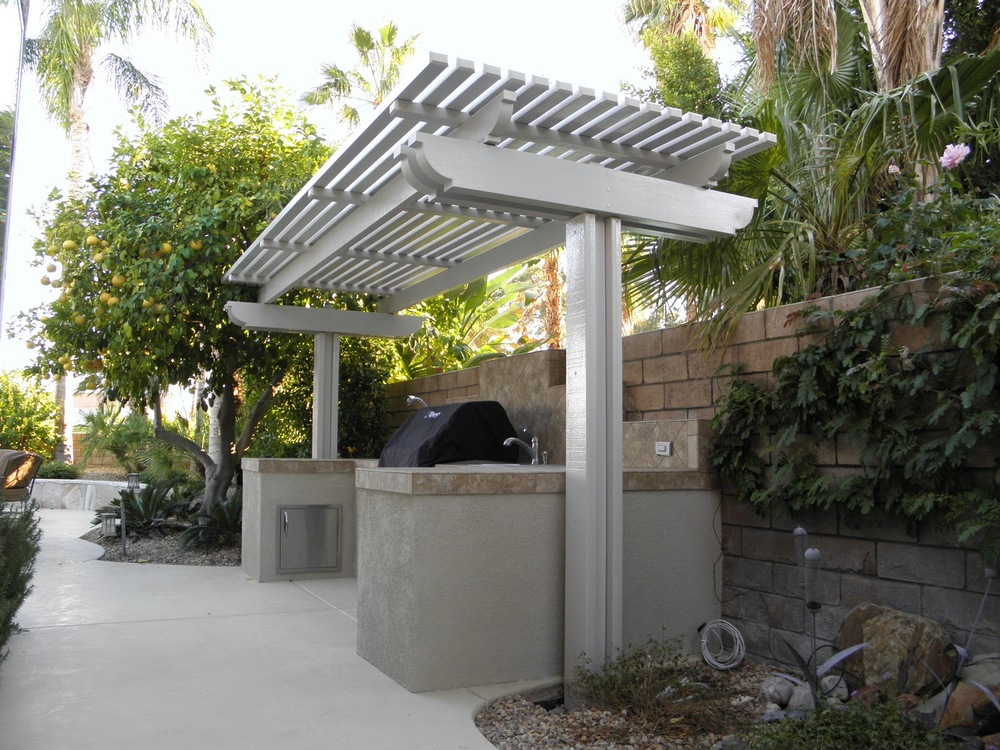 Lattice Patio Cover and BBQ in La Quinta, CA 92253