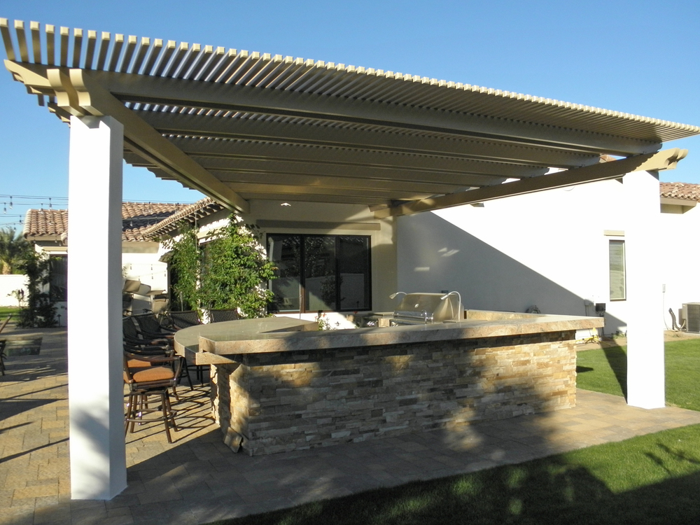 BBQ and Lattice Awning Patio Cover, Rancho Mirage CA, 92270