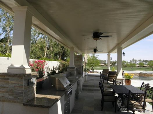 Solid Roof Patio Cover With BBQ, Indio CA, 92203