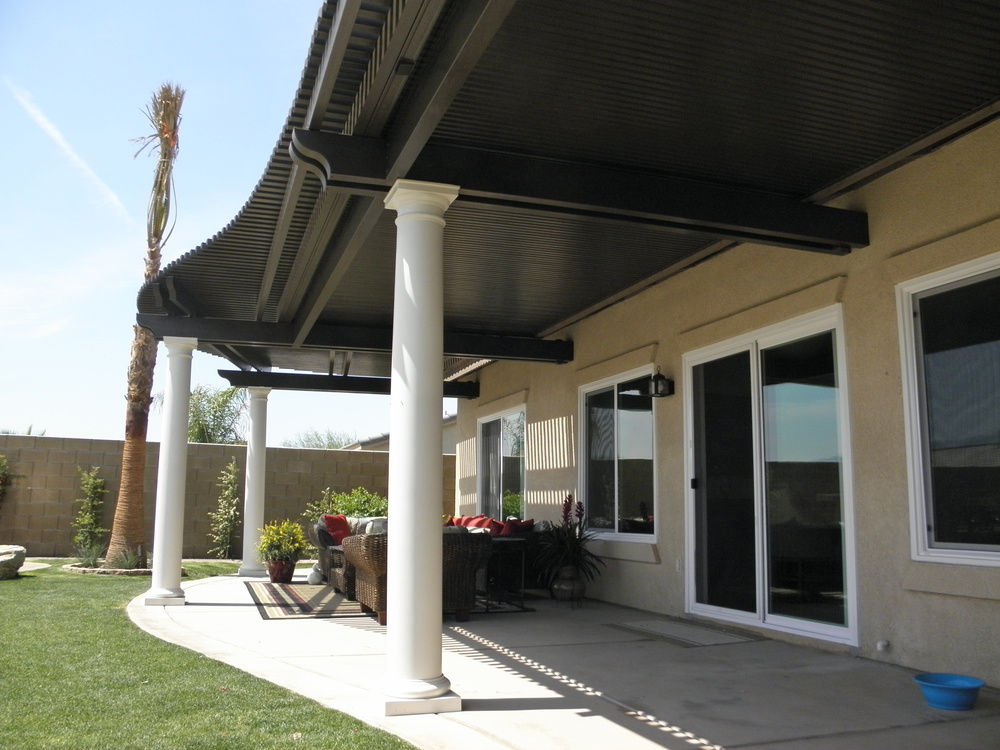 Lattice Patio Cover and Custom Beams, Palm Springs, CA 92211
