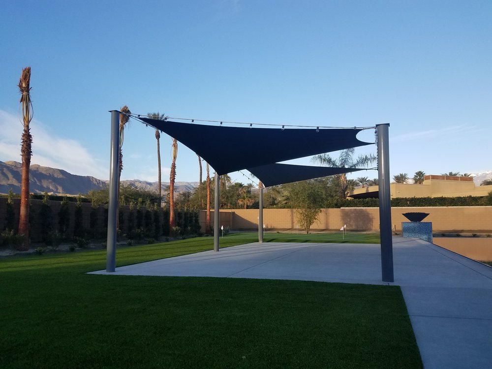 Custom tension shade structure, Rancho Mirage 92270