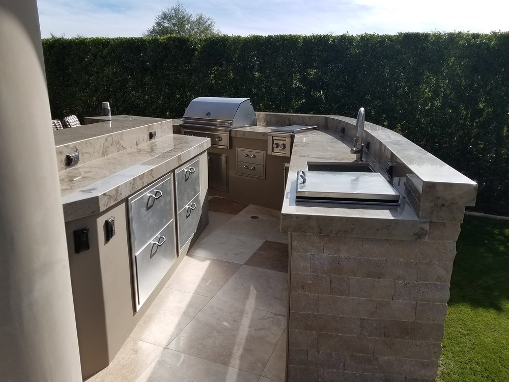 Custom outdoor kitchen with Lynx BBQ