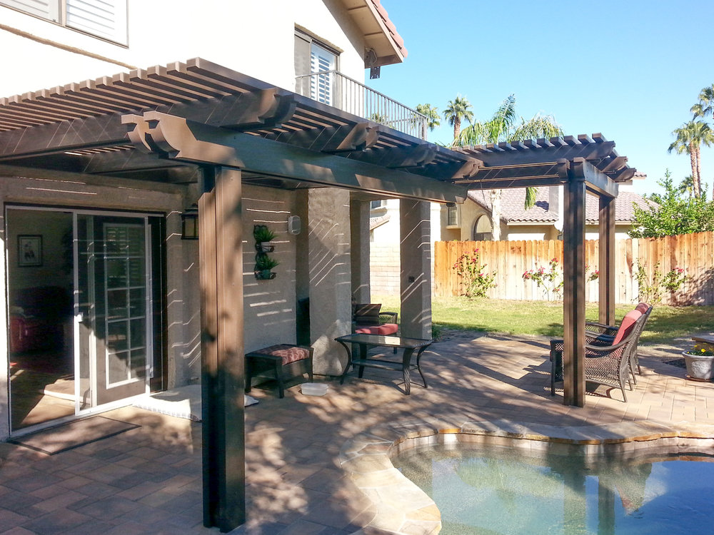 Pool Side Patio In Rancho Mirage