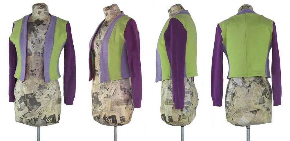 upcycled bolero jacket