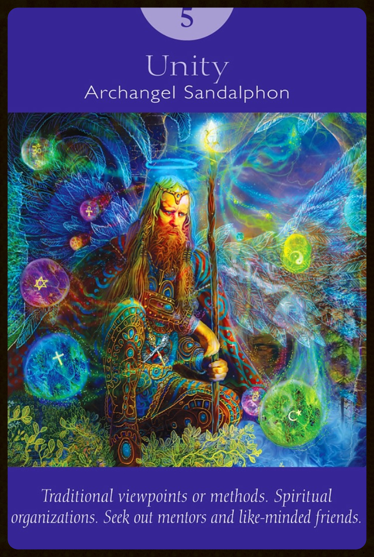 Unity ~ Archangel Sandalphon from The Angel Tarot