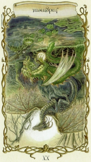 Judgment ~ Fantastical Creatures Tarot by Lisa Hunt