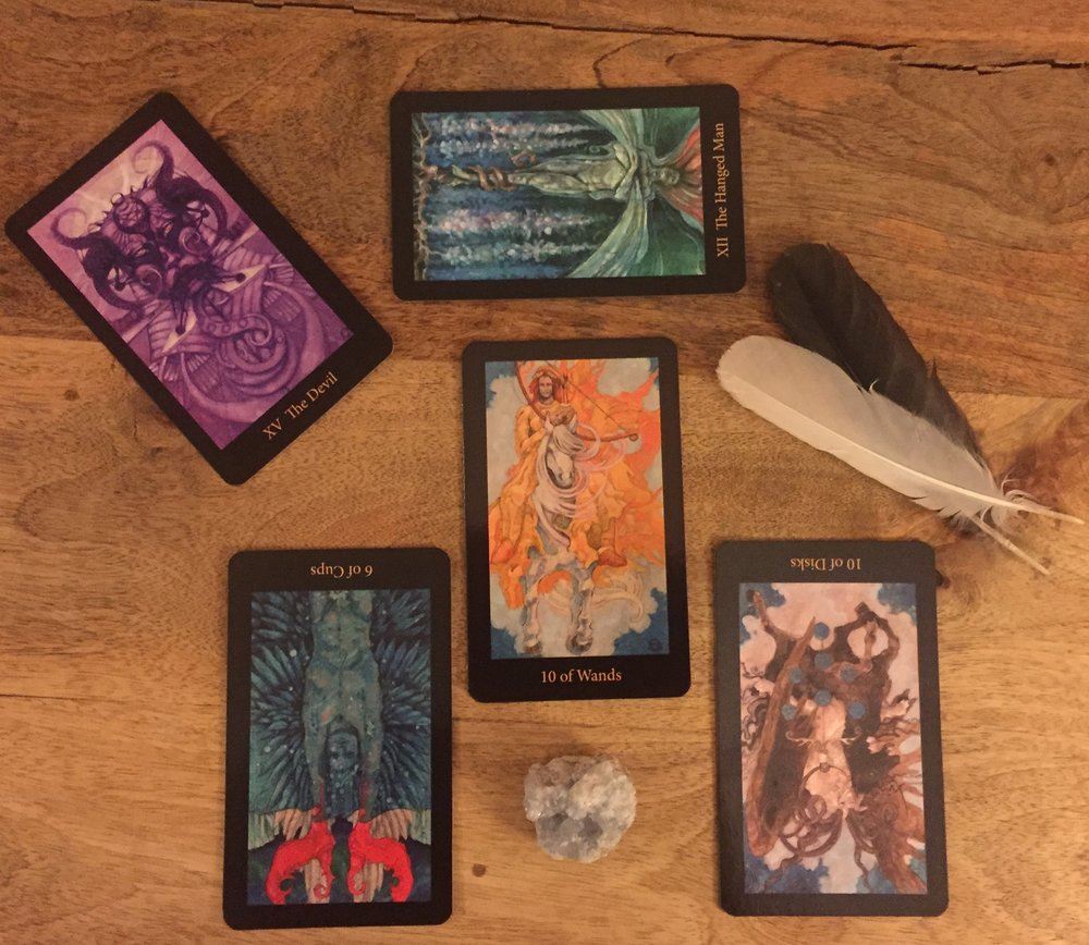 Winter Solstice Soul Tarot Layout with the Mary-El Tarot