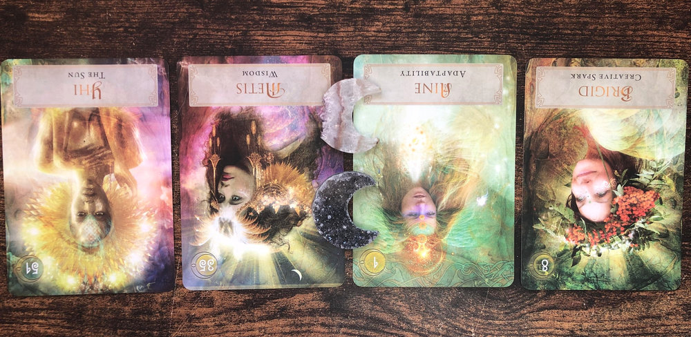 The Special Guidance Spread from the Goddess Mnemosysne from the Goddess Power Oracle.