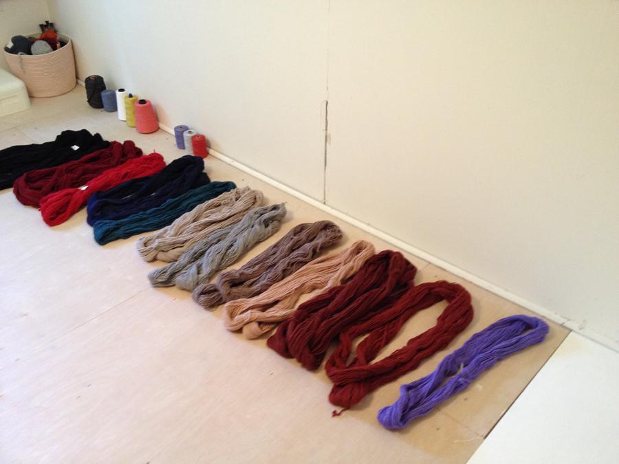 loom room rug yarn