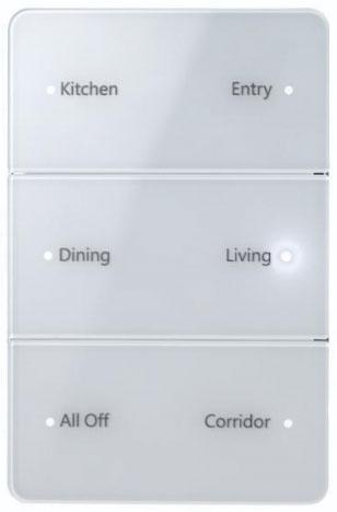 Antumbra button keypad - white