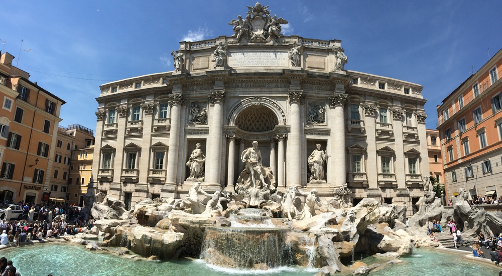 The Trevi Fountain in all its glory...