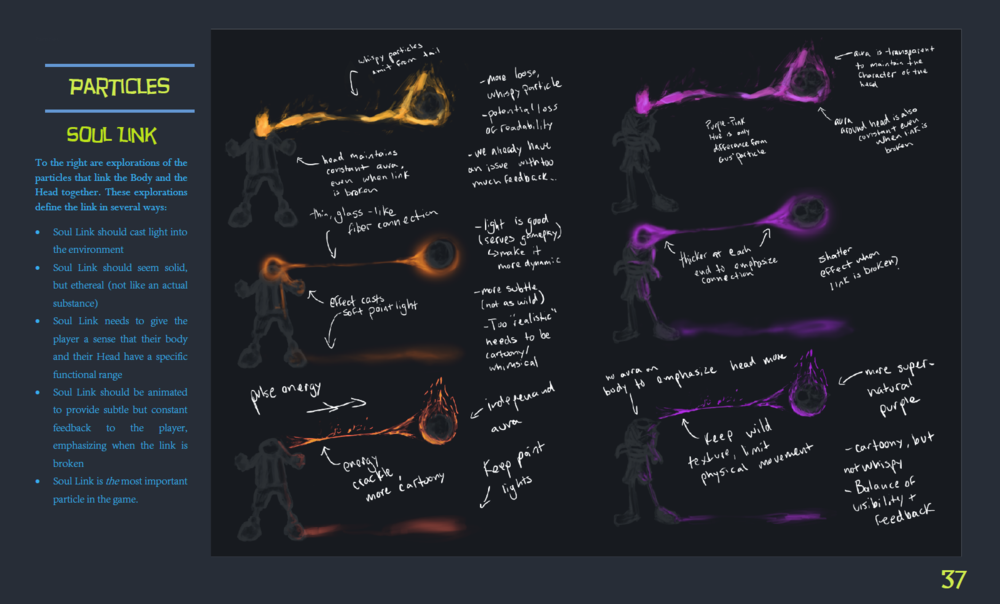 Using my background in fine art, I also concepted some important particles. The Soul Link in particular was important because it is constantly seen, and had to look amazing.