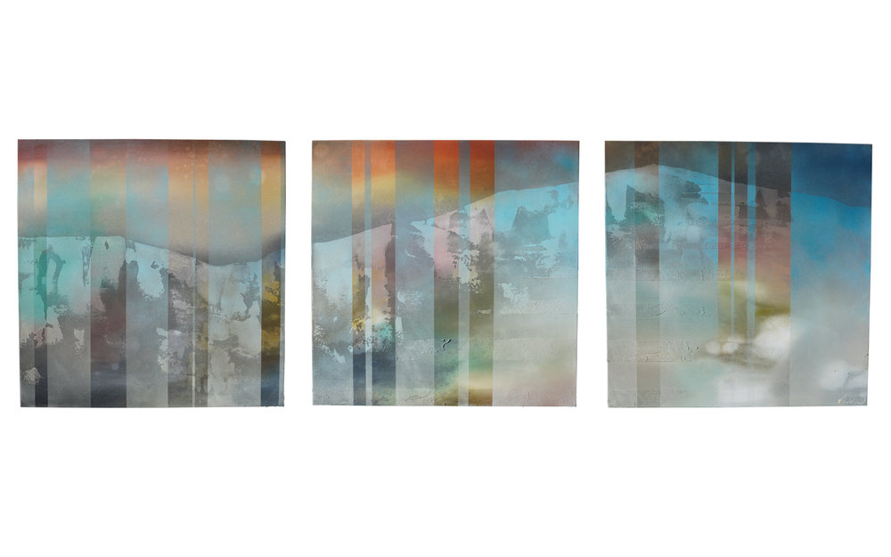"TAOS  MOUNTAIN  [triptych]  •  (29""  x  29"") [3]   