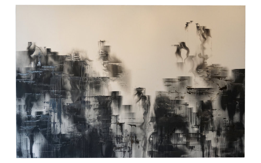 "DISSOLUTION  •  (72""  x  108"")  