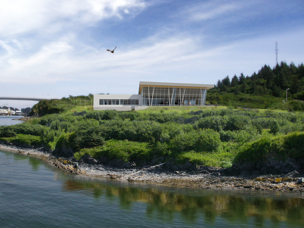 Gathering in Celebration of Culture and Surroundings The Afognak Corporation's multiuse building on Near Island brings shareholders together in a space that visually opens to the ocean nearby.
