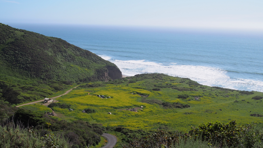 Perched above an idyllic strip of Northern California beach, this campsite books up almost instantly. With excellent proximity to Alamere Falls and Bass Lake, it's no wonder why.
