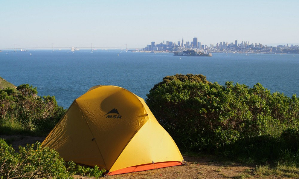 Angel Island Ridge Campsite