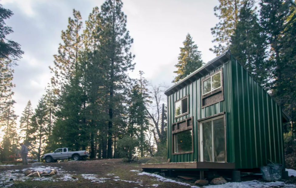 Our cabin for the weekend, before the first big snowfall!