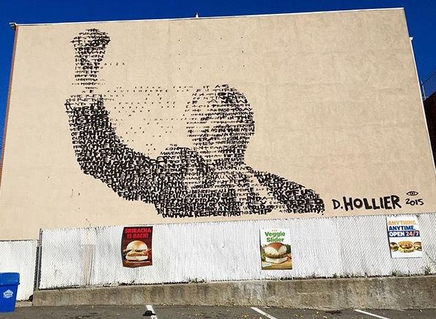 MANDELA MURAL APPEARS OVERNIGHT - BUSHWICK DAILY